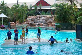 Boys Swimming at the CB Resort Pool